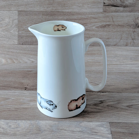 2 Pint Fine China Jug with Guinea Pig Design