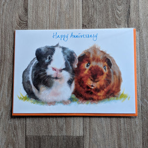 Guinea Pig Anniversary Card - Everything Guinea Pig