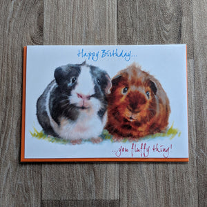 Guinea Pig Birthday Card - Everything Guinea Pig