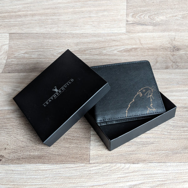 Guinea Pig Wallet - Black Leather [cards only]