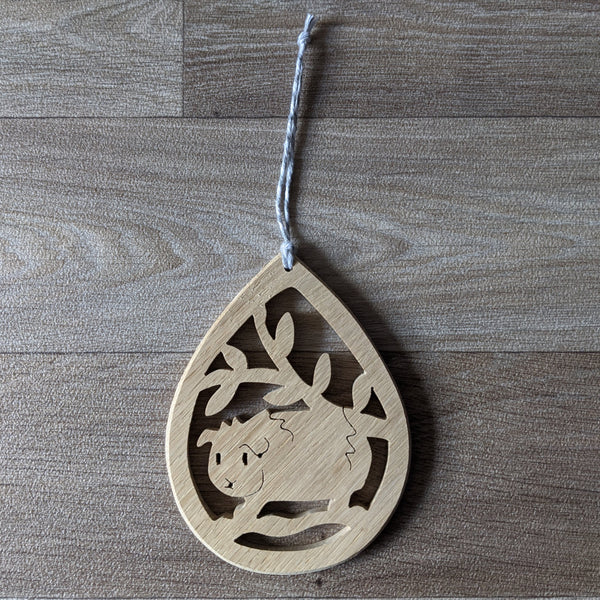 Oak Guinea Pig Decorative Hanger - Grey Twine - Everything Guinea Pig
