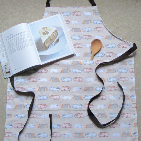 Guinea Pig Adult Apron - Water Colour Guinea Pig Design