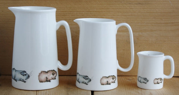 2 Pint Fine Bone China Jug with Guinea Pig Design - Everything Guinea Pig  - 4