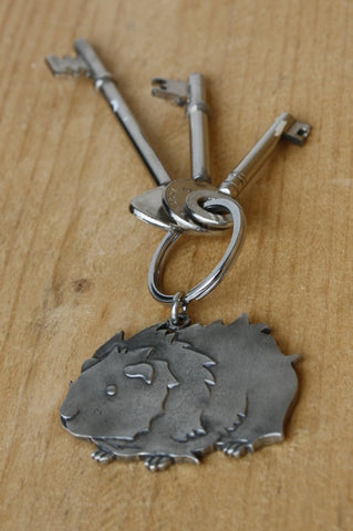Guinea Pig Keyring - Fine Cast Pewter - Everything Guinea Pig  - 4