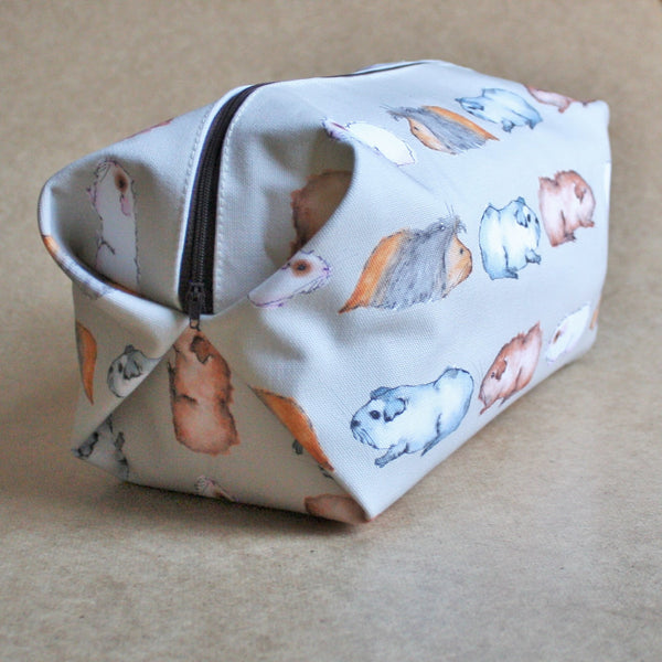 Guinea Pig Wash Bag - Water Colour Guinea Pig Design - Everything Guinea Pig