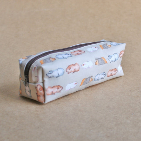Guinea Pig Pencil Case - Water Colour Guinea Pig Design