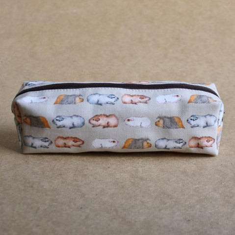 Guinea Pig Pencil Case - Water Colour Guinea Pig Design - Everything Guinea Pig