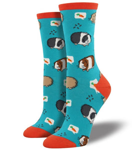 Guinea Pig Socks - Blue/Orange - Everything Guinea Pig