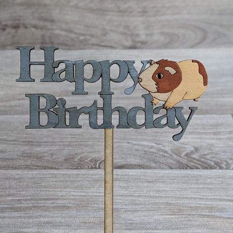 Guinea Pig Cake Topper (Brown/White)