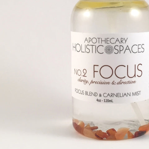 NO.2 FOCUS | FOCUS BLEND & CARNELIAN MIST FOR CLARITY, PRECISION & DIRECTION
