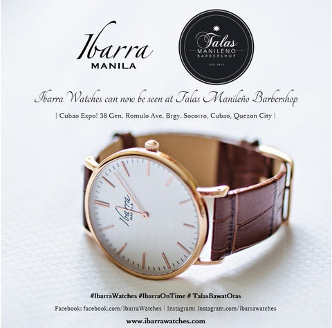 Ibarra Watches are now at Talas Manileño
