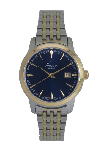 RIVERA 29MM QUARTZ TWO-TONE GOLD WATCH (BLUE DIAL)