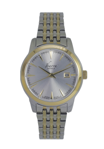 RIVERA 29MM QUARTZ TWO-TONE GOLD WATCH (SILVER DIAL)