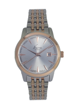 Load image into Gallery viewer, RIVERA 29MM QUARTZ TWO-TONE ROSE GOLD WATCH (SILVER DIAL)