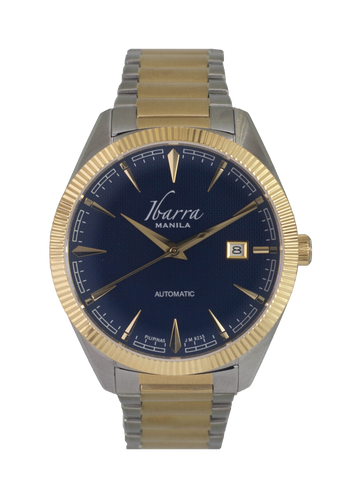 RIZAL 40MM AUTOMATIC TWO-TONE GOLD WATCH (BLUE DIAL)