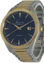 Load image into Gallery viewer, RIZAL 40MM AUTOMATIC TWO-TONE GOLD WATCH (BLUE DIAL)