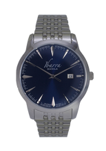 Load image into Gallery viewer, RIZAL 39MM QUARTZ STEEL WATCH (BLUE DIAL)