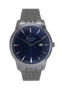 RIZAL 39MM QUARTZ STEEL WATCH (BLUE DIAL)