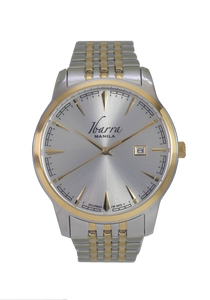 RIZAL 39MM QUARTZ TWO-TONE GOLD WATCH (SILVER DIAL)