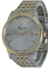 Load image into Gallery viewer, RIZAL 39MM QUARTZ TWO-TONE GOLD WATCH (SILVER DIAL)
