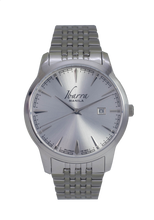 Load image into Gallery viewer, RIZAL 39MM QUARTZ STEEL WATCH (SILVER DIAL)