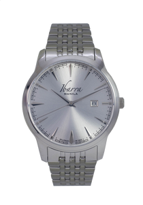 RIZAL 39MM QUARTZ STEEL WATCH (SILVER DIAL)