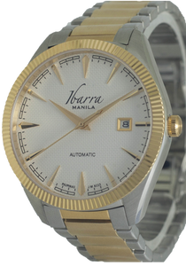 RIZAL 40MM AUTOMATIC TWO-TONE GOLD WATCH (WHITE DIAL)