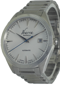 RIZAL 40MM AUTOMATIC STEEL WATCH (WHITE DIAL)