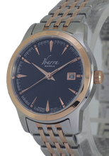 Load image into Gallery viewer, RIVERA 29MM QUARTZ TWO-TONE ROSE GOLD WATCH (BLACK DIAL)