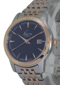 RIVERA 29MM QUARTZ TWO-TONE ROSE GOLD WATCH (BLACK DIAL)