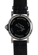 Load image into Gallery viewer, PLARIDEL 38MM QUARTZ SILVER DRESS WATCH (BLACK STRAP)