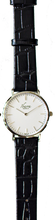 Load image into Gallery viewer, RIZAL CLASSIC 36MM SILVER LEATHER DRESS WATCH