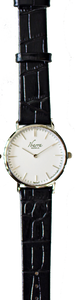 RIZAL CLASSIC 36MM SILVER LEATHER DRESS WATCH