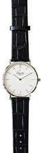 Load image into Gallery viewer, RIZAL CLASSIC 40MM SILVER LEATHER DRESS WATCH