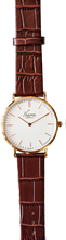Load image into Gallery viewer, RIZAL CLASSIC 40MM ROSE GOLD LEATHER DRESS WATCH