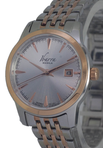 RIVERA 29MM QUARTZ TWO-TONE ROSE GOLD WATCH (SILVER DIAL)