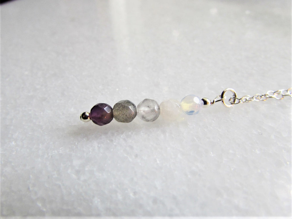 Crown Chakra Gemstone Necklace