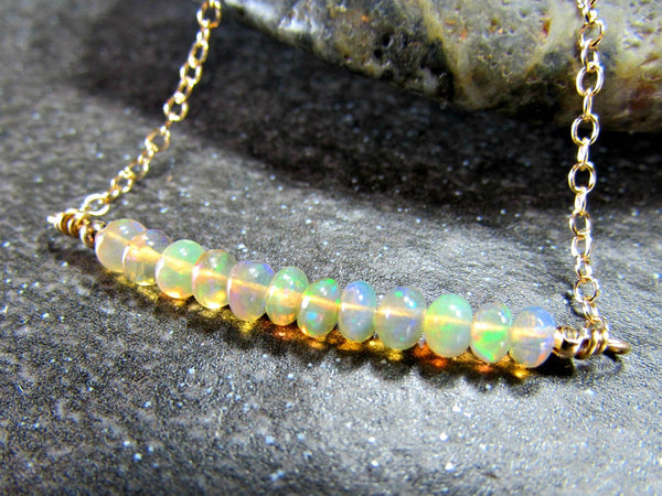 Ethiopian Fire Opal Necklace