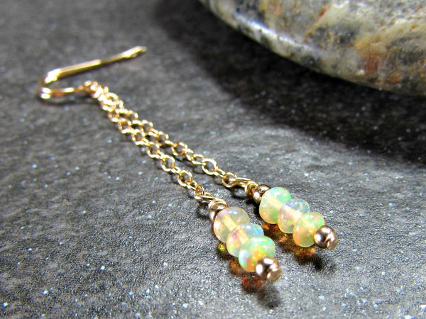 Ethiopian Fire Opal Earrings
