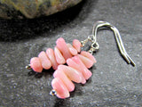 Pink Coral Branch Earrings- Sterling Silver, 14K Gold Filled or 14K Rose Gold Fill- Beach Jewelry