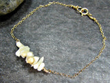 White Coral Branch Bracelet- Sterling Silver, 14K Gold Filled or 14K Rose Gold Fill- Beach Jewelry
