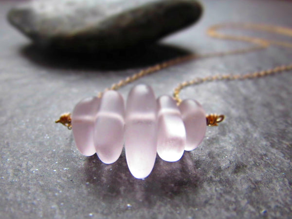 Pink Sea Glass Necklace in Sterling Silver, 14K Yellow Gold Filled or Rose Gold Filled- Beach Glass Jewelry- Ocean Gifts- Coastal Jewelry