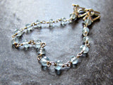 Aquamarine Crystal Sweater Clip Chain