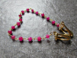 Red Ruby Crystal Sweater Clip Chain