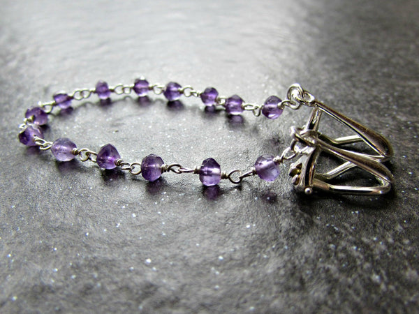 Amethyst Crystal Sweater Clip Chain