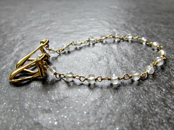 Quartz Crystal Sweater Clip Chain