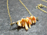 Orange Coral Branch Necklace- Sterling Silver, 14K Gold Filled or 14K Rose Gold Fill- Beach Jewelry