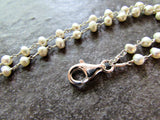 Freshwater Pearl Lanyard Necklace / ID Badge Holder