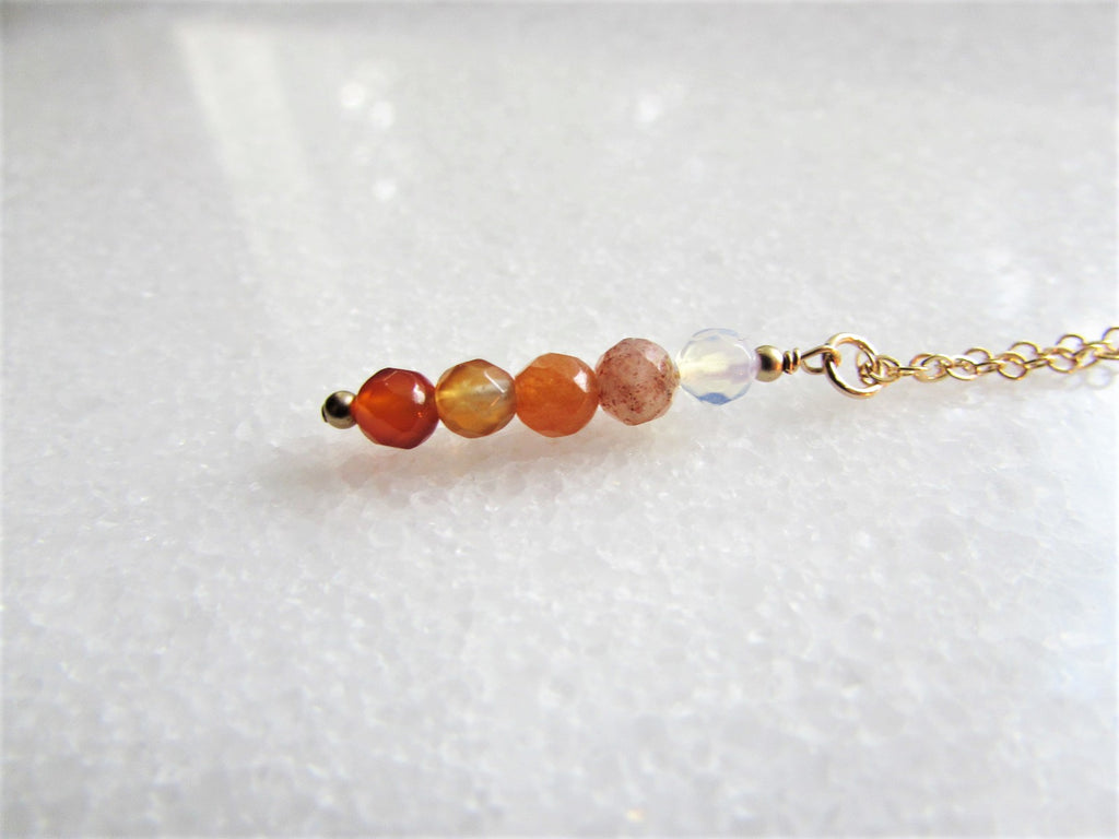Sacral Chakra Gemstone Necklace