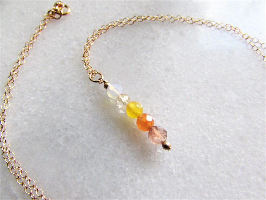Solar Plexus Chakra Gemstone Necklace